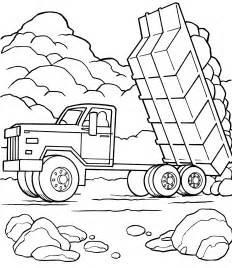 Dump Truck Coloring Pages Printable To sketch template