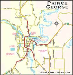 columbia maps city of prince george bc map