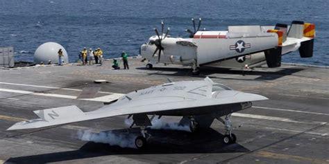 Drone Kapal sukses uji coba pendaratan quot drone quot di atas kapal induk