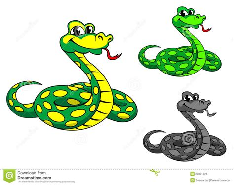 funny cartoon python snake stock images image 28001624