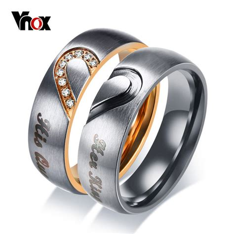 King Engagement Ring Shopping by Vnox King His Wedding Band Ring Stainless