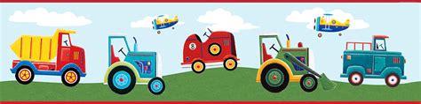 kinderzimmer bordure fahrzeuge bord 252 re transportfahrzeuge tapeten borte kinderzimmer