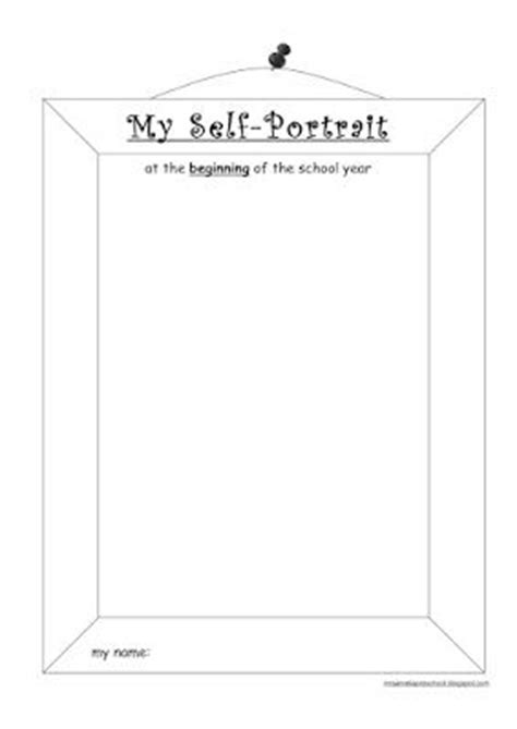 portrait template self portrait template for preschool click on the