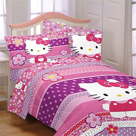 hello kitty twin bed set hello kitty twin full comforter bed bath beyond