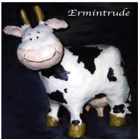 How To Make A Paper Mache Cow - papier mache galleries pat