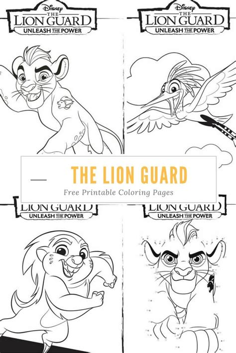 birthday lion coloring page unleash the power with these great the lion guard coloring