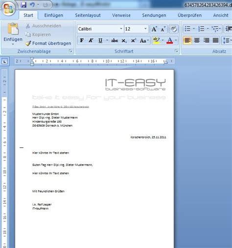 Word Vorlage Brief Mit Fenster Dms Handbuch Easywinart