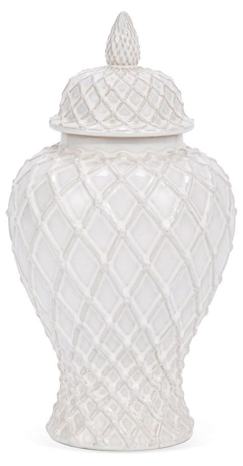 white ginger jar l one kings lane restyle your surfaces 14 quot ginger jar