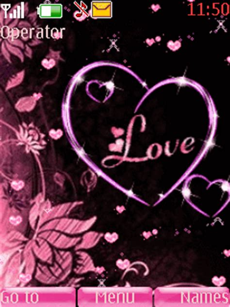 themes java love download pink heart nokia theme nokia theme mobile toones