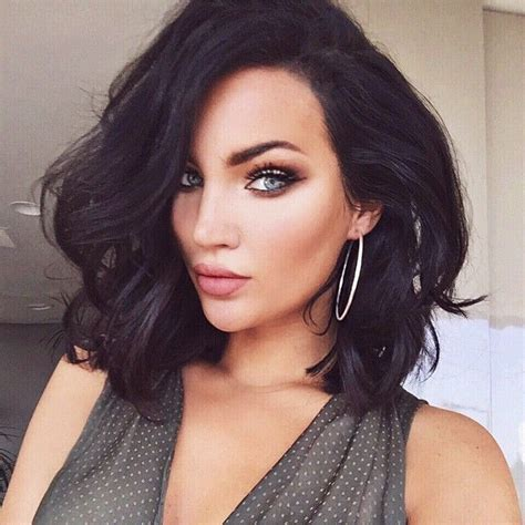 short hair cuts with dark brown color with carmel highlights hottest hair colors for spring 2017 new hair color ideas