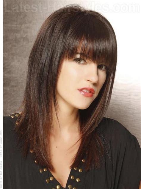 shoulde length bobs without fringe medium length hairstyles with fringe