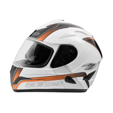 Helm Zeus Zs 806 jual zeus zs 806 helm white ii52 orange harga kualitas terjamin blibli