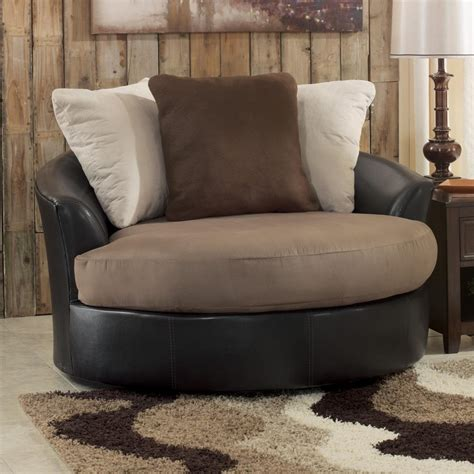 furniture large swivel chair living room amazing chair ottoman set modern with brown