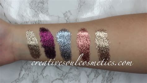 Mba Cosmetics Pressed Glitter by New Creative Soul Cosmetics Pressed Glitter Swatches
