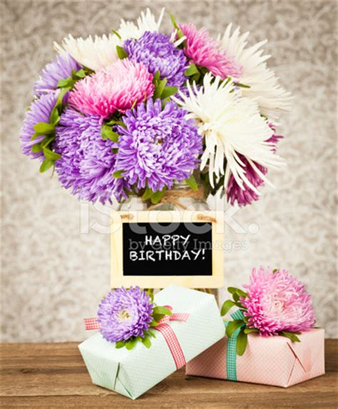 happy birthday flowers and gift stock photos freeimages.com