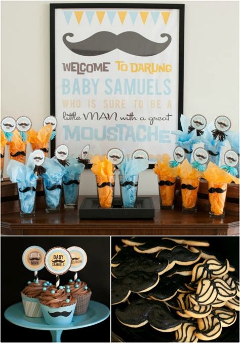 Baby Shower Boy Themes by Boy Baby Shower Ideas Mustache Theme Spaceships And