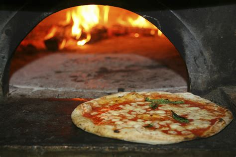 Oven Pizza naples on a plate