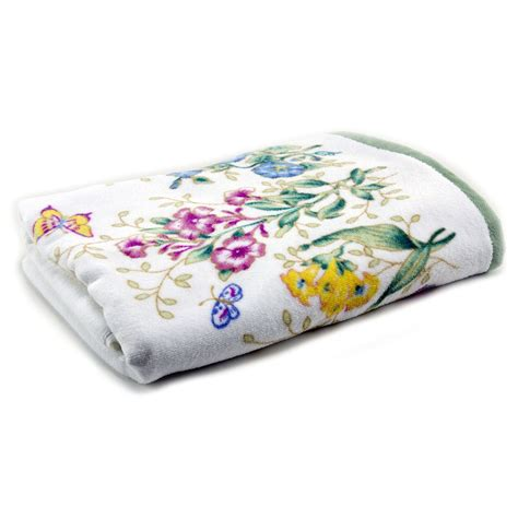 Printed Towel lenox butterfly meadow printed bath towel 100 cotton