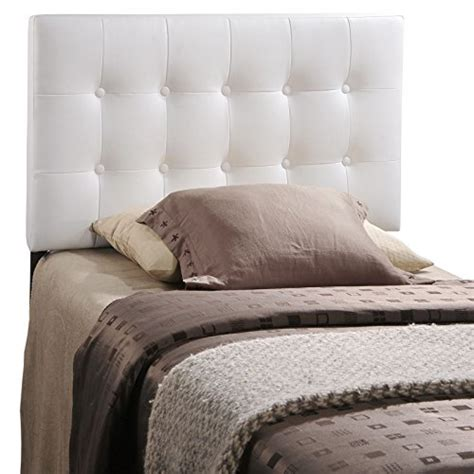 white vinyl headboard modway emily twin upholstered vinyl headboard in white a