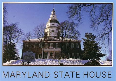 maryland state house maryland postcard eddie rare unique postcards at affordable prices