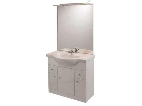 rangement salle de bain 200 bloc l 80 cm salle de bain turin coloris blanc vente de