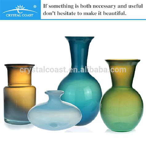 different types decoration glass vase blown glass