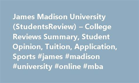 Jmu Mba by 25 Best Ideas About On