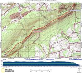appalachian trail in map at in pa pa 309 to lehigh gap