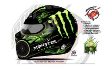 design helmet monster drag racing ch secures monster support speedcafe