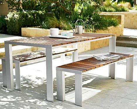 contemporary outdoor dining table from design within reach
