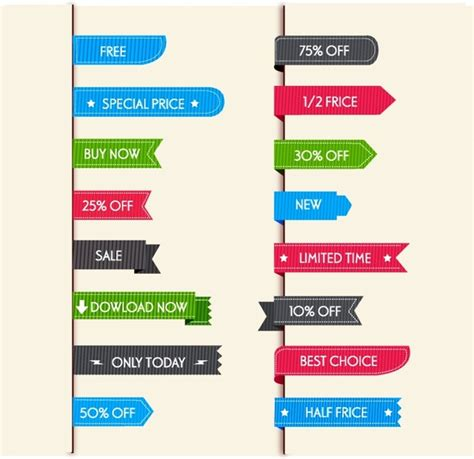 free sale label vector free vector