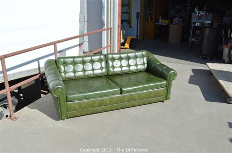 vintage vinyl sofa the difference auction estate clearance something for