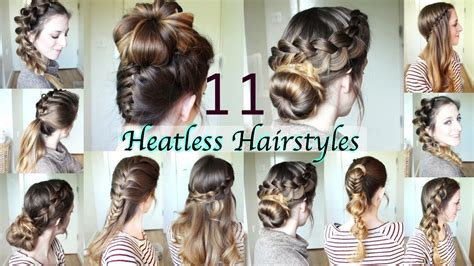hairstyle diy 11 heatless hairstyles diy hairstyles
