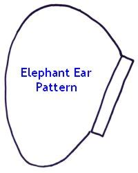 elephant ear template elephant ears template cake ideas and designs