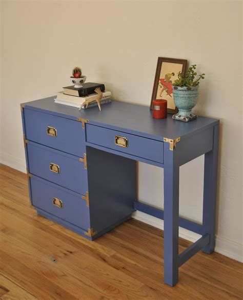 Vintage Caign Desk Blue Trevi Vintage Design Blue Desk