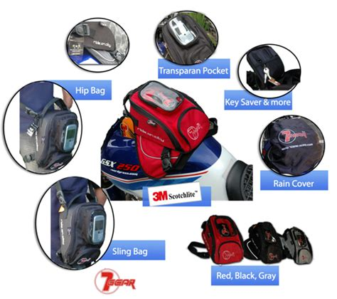 Jas Hujan Motor Transparan Cover mini tankbag 7gear enakans moto shop