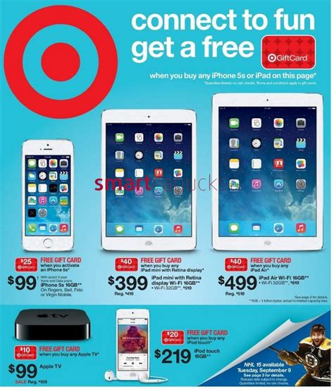 Target Gift Card Discount Coupon Code - target canada deals get a 40 gift card with purchase of ipad mini or ipad air