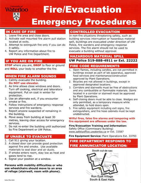 emergency procedures in the workplace template posting requirements safety office