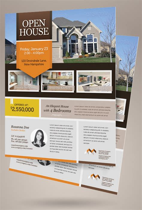 house for sale flyer template 12 download free