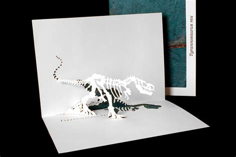 Origami Pop Up - t rex origami architecture pop up cards by live your