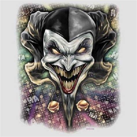 joker tattoo transfers wicked jester clown heat press transfer for t shirt tote