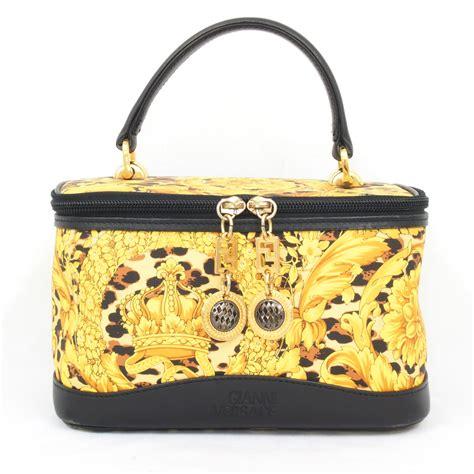 Vanity Bag by Vintage Gianni Versace Vanity Bag Leopard Medusa Handbag