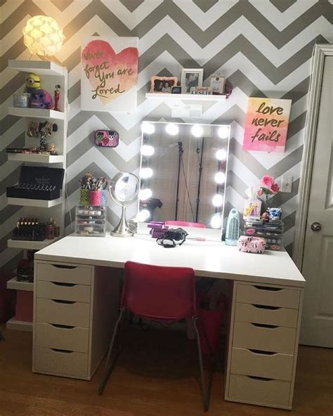 ikea alex and mickey desk diy makeup vanity cool makeup this festive and absolutely chic vanity setup from leslie