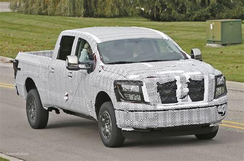 new nissan truck diesel 2016 nissan titan spied testing isv cummins turbo diesel