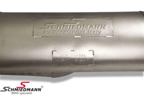 Custom Slencer Akrapovic Tutanium Look scm046206 schmiedmann by supersprint quot race quot sport rear silencer with 4x80mm outlets titanium