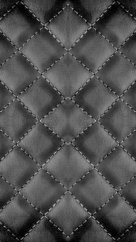 pattern leather black checker stitches black leather texture background iphone