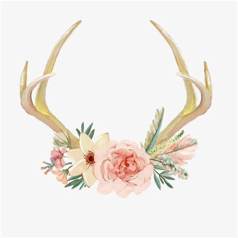 decorative antlers decorative antlers hand painted decoration antlers png