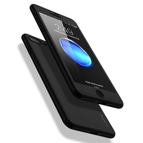 apple iphone 8 plus floveme 360 176 os kamerav 233 dős fekete pc tok 0 30 mm vastag 9h 252 vegf 243 lia