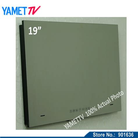 bathroom mirror tv screen free shipping ip66 19 inch bathroom tv television mirror