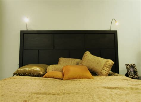 bed lighting headboard with lights diy headboard with built in lights